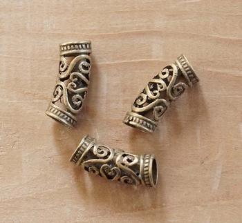 """Baardkralen """" Keltische sierwerk """" koper kleurig  8 stuks"""