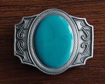 """Buckle  """" Turquoise steen met sierwerk """""""