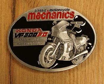 """Buckle """" Classic motorcycle mechanics """" Honda"""