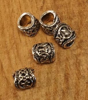 """Baardkralen  """" Keltische symbolen """" set van 6 stuks"""