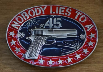 "Buckle / gesp  "" Nobody lies to a """