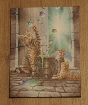 "Anne Stokes wanddecoractie  "" Katten bij ketel """