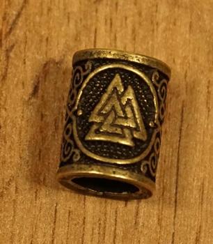 """Baardkraal """" Celtic knoop driehoek """" koperkleurig Per stuk"""