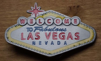 "Belt buckle ""Welkom in sprookjesland Las Vegas"""
