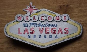 """Belt buckle """"Welkom in sprookjesland Las Vegas"""""""