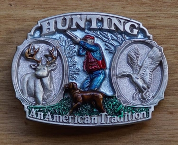 "Sport buckle  "" Hunting an American Tradition """