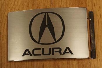 """Automerk buckle  """"  Acura """"  zilverkleurig"""
