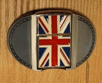 """Aansteker buckle  """" Britische vlag """" ovaal"""