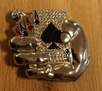 """Belt buckle """" Pokerhand """""""
