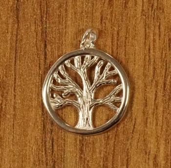 """Zilveren hanger  """" Levensboom """""""