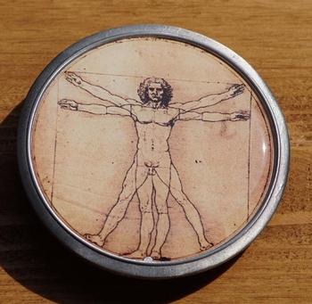 "Buckle / gesp  ""  Man op pentagram """