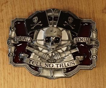 """Belt buckle   """" Skelet met motorhelm """"   UITVERKOCHT"""