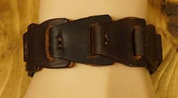 """Leren armband  """" Donker bruin """""""