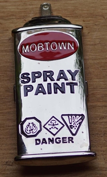 "Humor gesp  "" Spray paint """