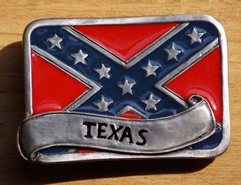 "Gesp buckle  "" Rebel vlag  Texas """