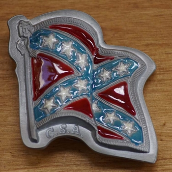 "Gesp buckle  ""  Wapperende Zuidstaten vlag """