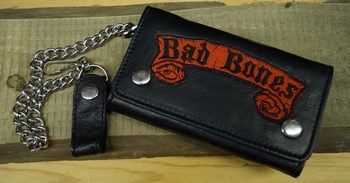 "Trucker portemonnee   "" Bad to bone ""   Zwart"