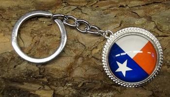 """Sleutelhanger  """"  Texaanse vlag """""""
