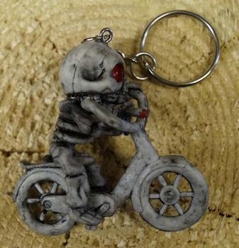 "Sleutelhanger  "" Skelet op motor  """