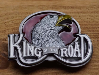 "Riem gesp  "" King of the Roal ""  Adelaarshoofd"