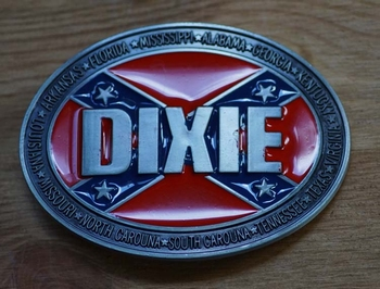 "Buckle / gesp  "" Dixie, rebel vlag """