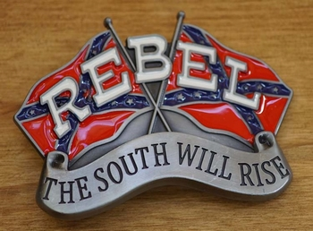 "Buckle / gesp  "" Rebel  The south will rise """