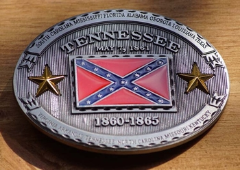 """Buckle / gesp  """" Tennessee may7, 1861 - 1865"""
