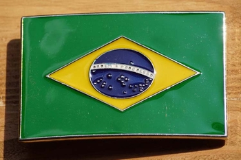 "Gesp buckle  "" Vlag Brazilie """