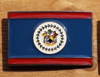 """Gesp buckle  """" Vlag Belize """""""