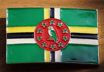 "Gesp buckle  "" Dominicaanse vlag """