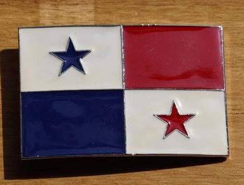 "Gesp buckle  "" Vlag Panama """