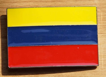 "Gesp buckle  "" Vlag Colombia """