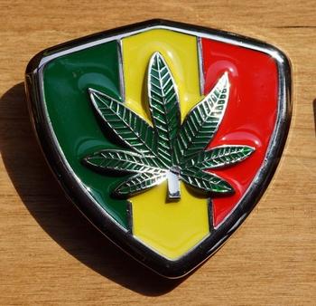 "Buckle  "" Rasta vlag + marijuana """