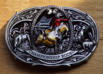 """Buckle / gesp  """" Rodeo rider """"   Championship rodeo"""