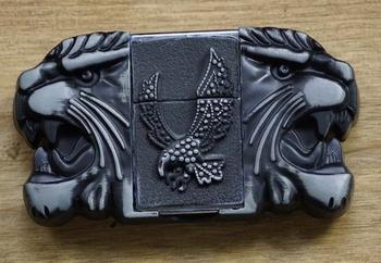 """Belt buckel with lighter """" Tijgers / vliegende adelaars """""""