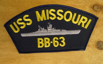 "Strijkapplicaties "" USS Missouri BB-63"""