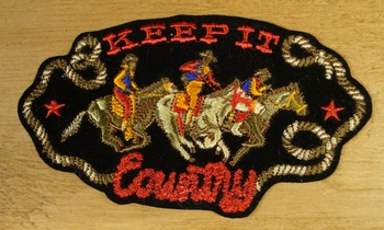 "Strijkapplicaties  "" Keep it country ""   Cowboys"