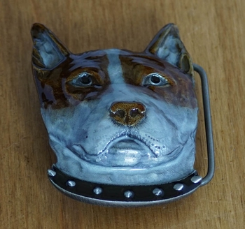 "Buckle / gesp  "" Bull terrier """