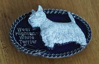 """Buckle / gesp  """" West Highland white terrier """""""