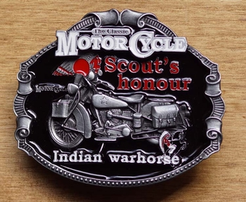 "Motor cylce buckle  "" Scout's hounour Indian"" UITVERKOCHT"
