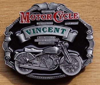 "Motor cylce buckle  "" Vincent """