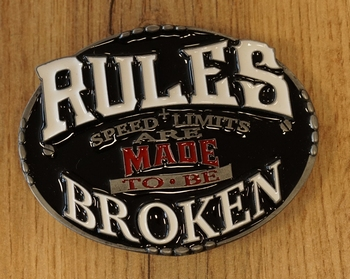 "Motor buckle  "" Live to ride,  Ride to live """