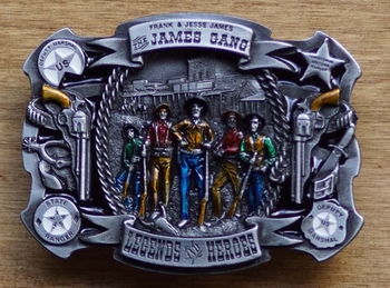 """Western buckle  """" James gang legend heroes """"   UITVERKOCHT"""