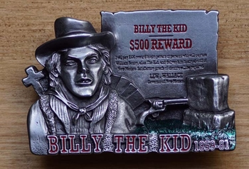 "Western buckle  "" Billy the kid """