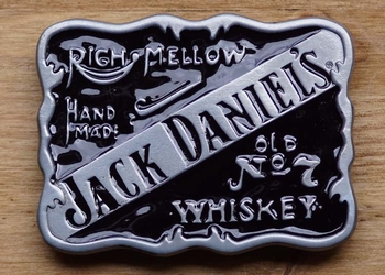 """Jack Daniels gesp """" Righ mellow, hand made, Old no 7 wiskey"""