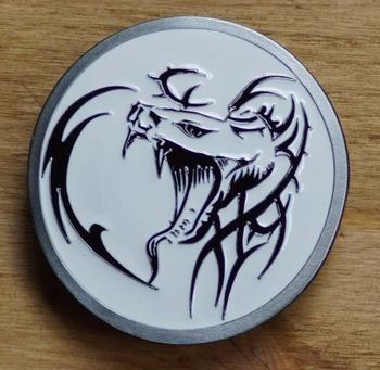 "Tattoo buckle / gesp  "" Celtic dragon's head """
