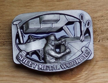 """Losse gesp  """" Sheet metal workers """"  ( plaat bewerker )"""