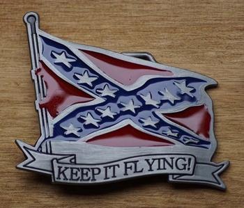 """Buckle / gesp  """" Keep it flying """"   Rebelvlag"""