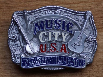 "Country Buckle  "" Music city u.s.a.   Nasville tn """