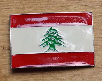 """Gesp buckle  """" Vlag Libanon"""""""